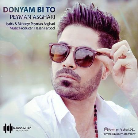 Peyman Asghari Donyam Bi To Cover  دانلود آهنگ پیمان اصغری دنیام بی تو